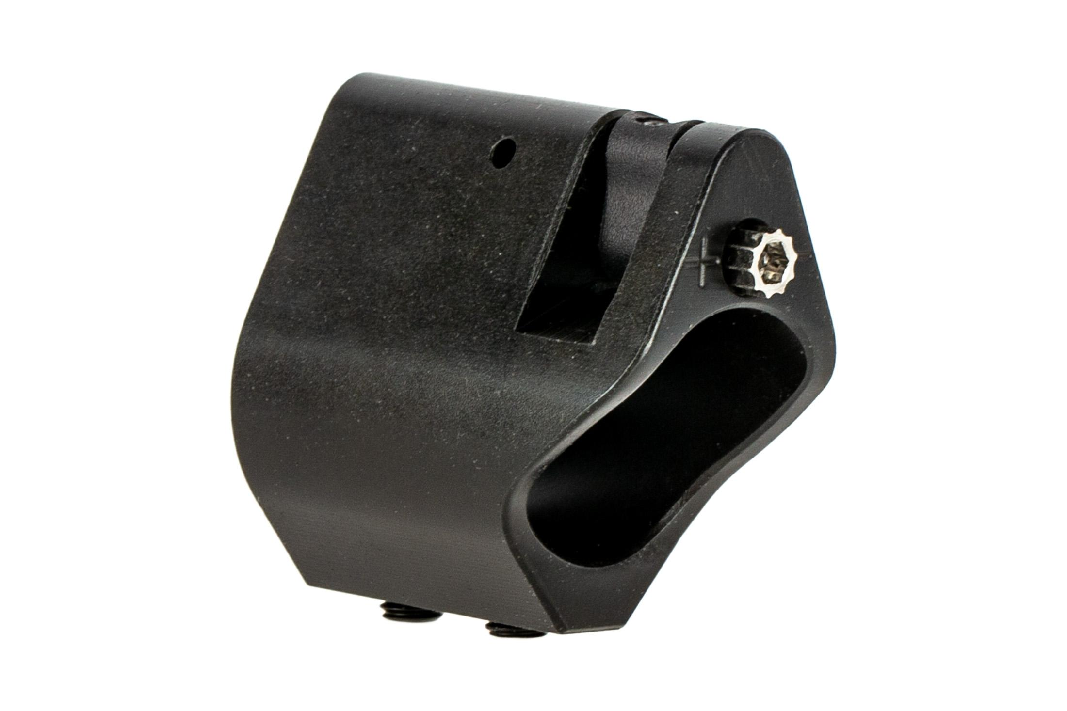 Seekins Precision SELECT Adjustable low profile gas block for .750 barrels features a nitride finish