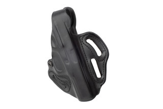 DeSantis Thumb Break Scabbard Holster for Glock Glock 17/22/31 features black leather construction
