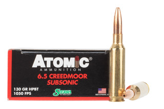 Atomic Ammunition 6.5 Creedmoor 130 grain Sierra Matchking bullet offers subsonic performance
