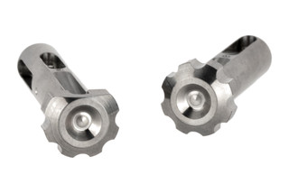 Lantac USA's ultimate takedown pin set machined from high-strength 6AL-V4GR5 titanium with natural finish
