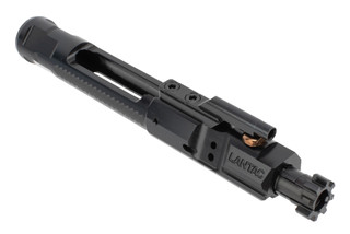Enhanced Bolt Carrier Group 5.56 from Lantac is machined from steel with a QPQ nitride black finish