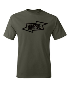 Noveske Bolt short sleeve shirt in green from the front