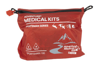 The Adventure Medical Kits Sportsman 200 First Aid kit is designed for up to 2 people