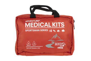 The Adventure Medical Kits Sportsman 200 is designed to have enough first aid supplies for 4 people
