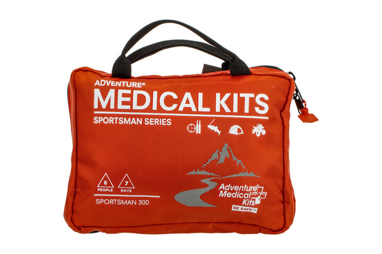 Adventure Medical Kits Sportsman 300 first aid kit is contained in a convenient nylon carrying case.
