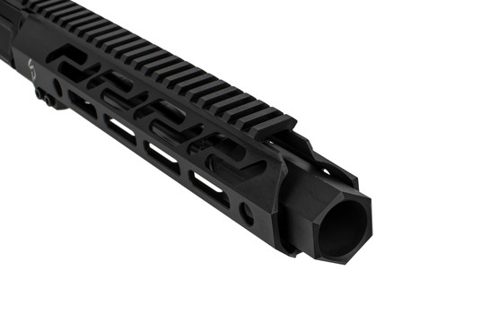 The Stern Defense 9mm upper receiver group features a forward blast diffuser