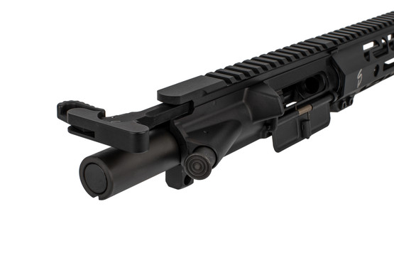 The Stern Defense complete 9mm upper comes with a heavy bolt and extended latch charging handle