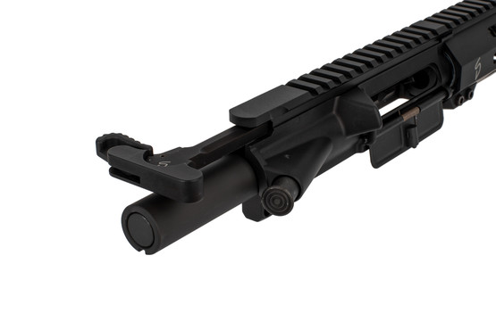 The 9mm Stern Defense complete AR9 upper receiver group comes with a heavy bolt and extended latch charging handle