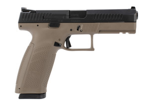 CZ P10 F 9mm pistol with a flat dark earth frame