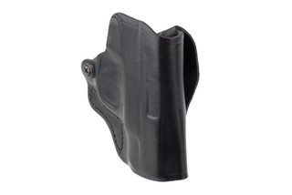 DeSantis Mini Scabbard Belt Holster for S&W Shield features black leather material
