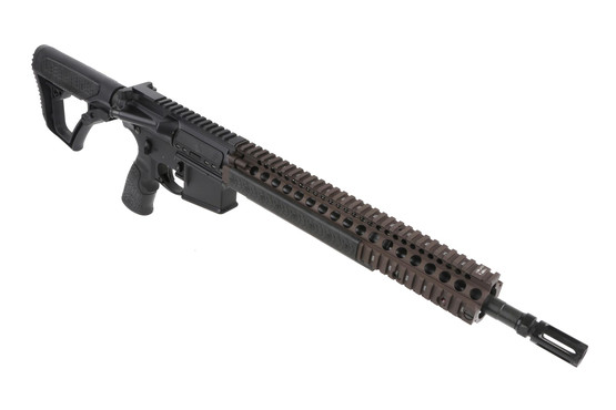 The Daniel Defense M4 rifle is built to Mil-Spec dimensions with a cold hammer forged 41V50 barrel