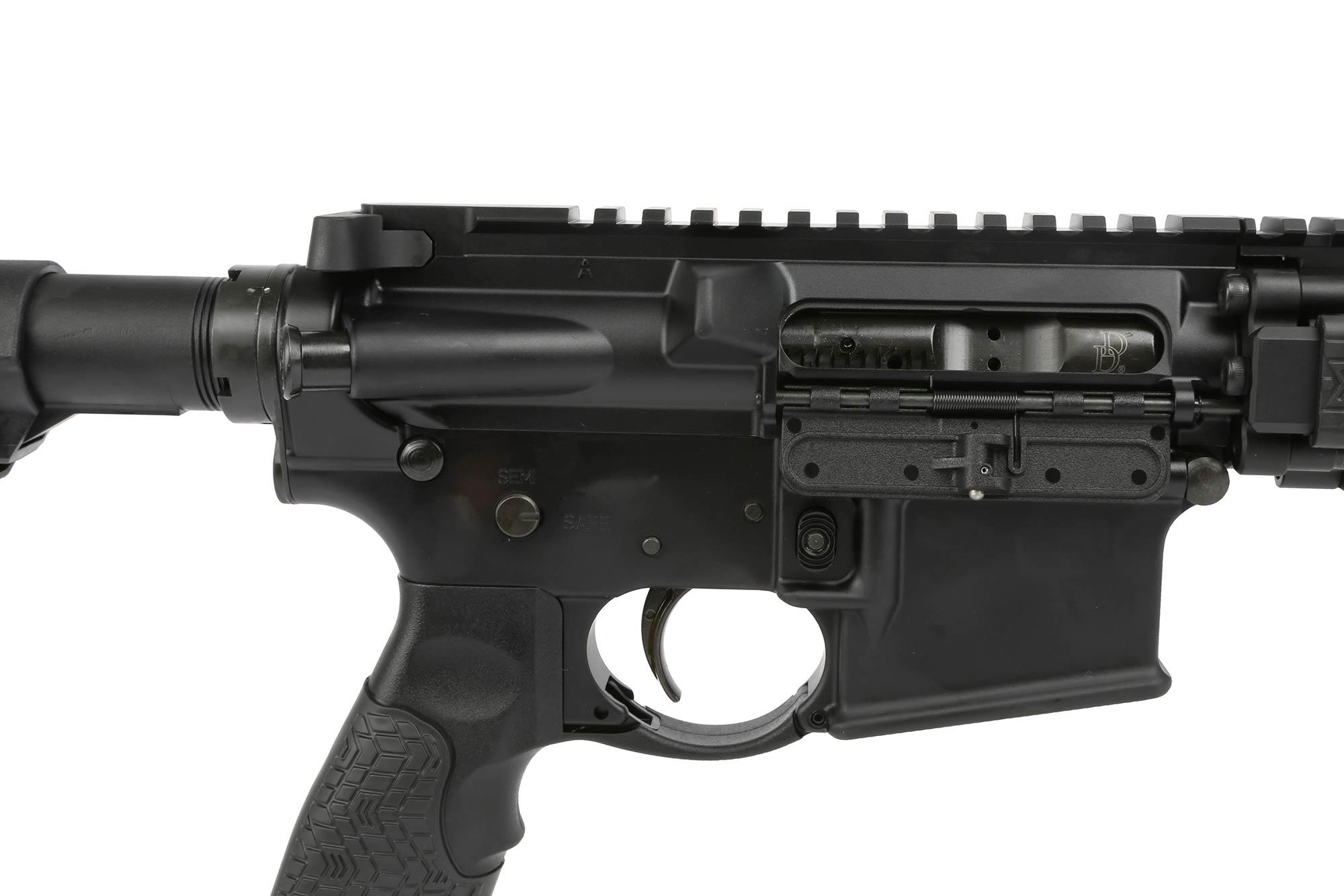 The Daniel Defense MK 18 AR15 features a staked castle nut