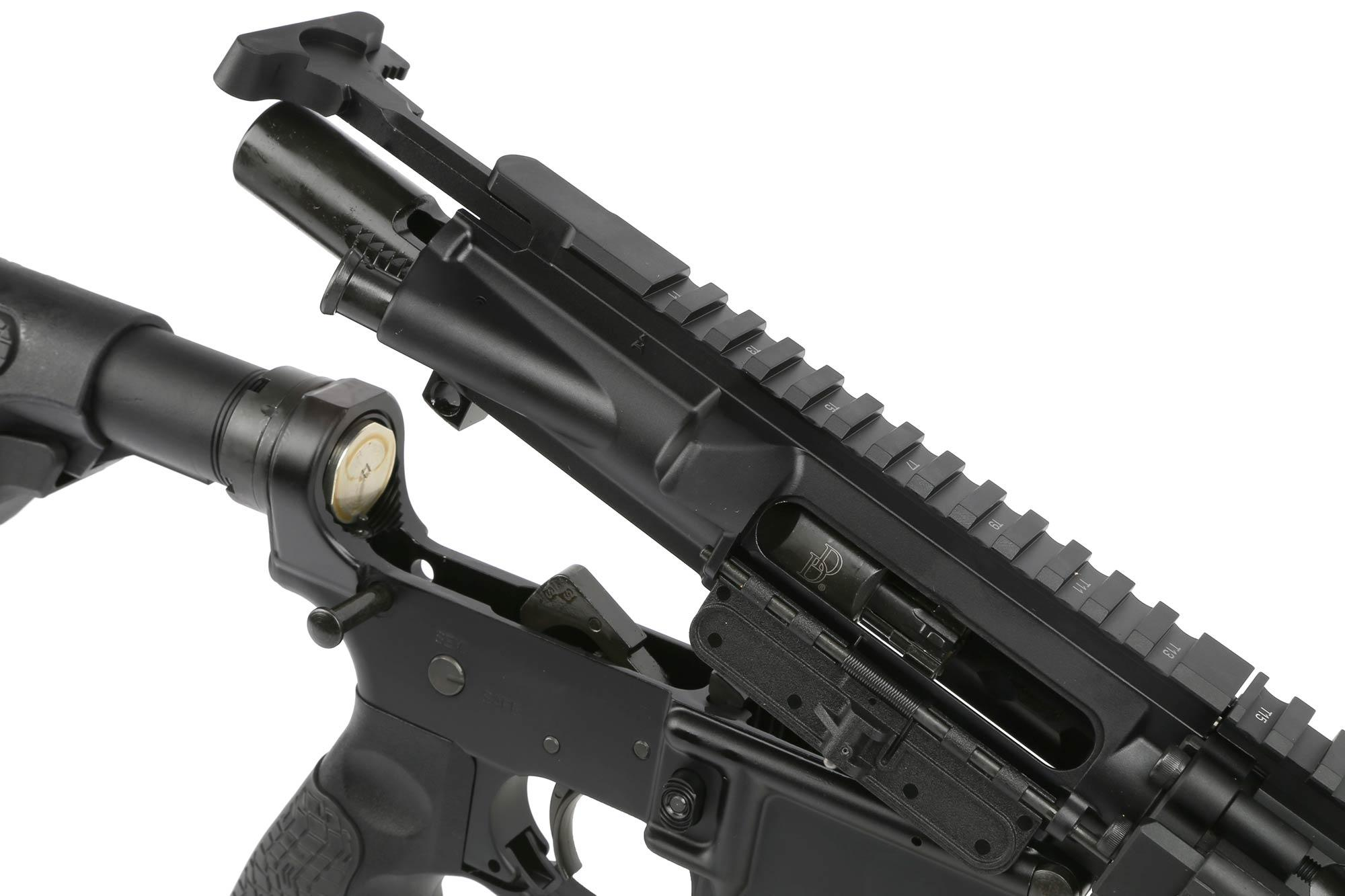 The Daniel Defense short barrel Rifle MK18 AR15 uses a magnetic particle inspected Mil-Spec bolt carrier group
