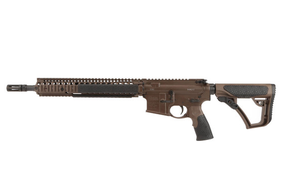 The Daniel Defense 14.5 5.56 m4 carbine with 12.25 M4A1 RIS II picatinny rail with flash hider and forged receiver
