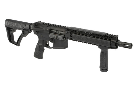 The DDM4 300S Daniel Defense MK18 short barrel rifle comes with the RIS II quad rail handguard