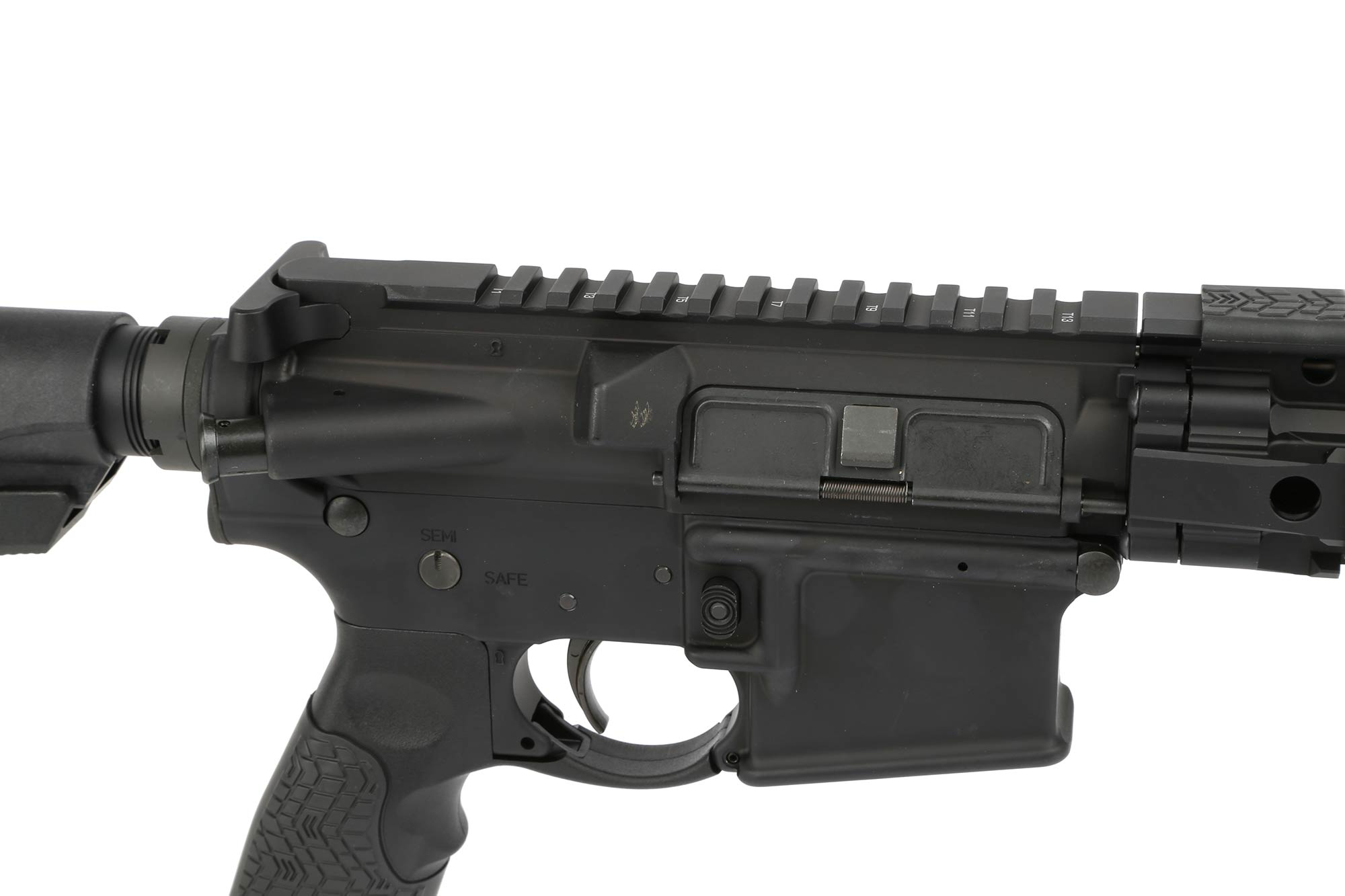 The Daniel Defense DDM4 300 S short barrel AR15 is test fired at the factory to confirm function