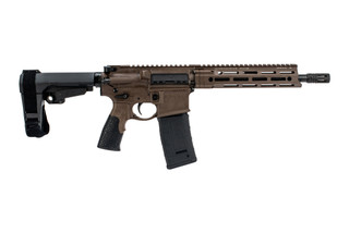 Daniel Defense DDM4v7 P 300 Blackout AR Pistol features the Mil-Spec+ brown Cerakote finish