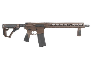 The Daniel Defense DDM4v7 rifle is chambered in 5.56 NATO with a 16 inch barrel and Mil-Spec+ finish