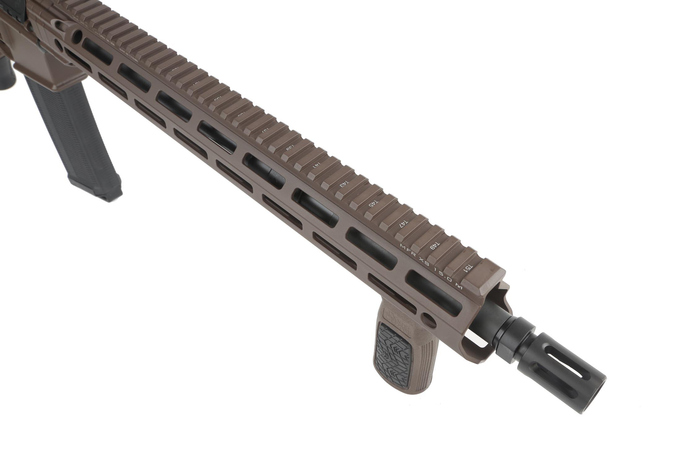 The Daniel Defense DDM4v7 AR15 features a 16 inch cold hammer forged barrel with A2 flash hider