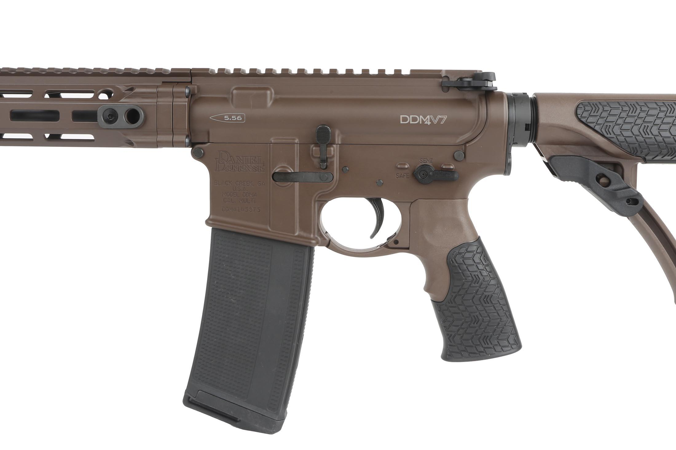 The Daniel Defense M4 v7 5.56 AR-15 is assembled with Mil-Spec components