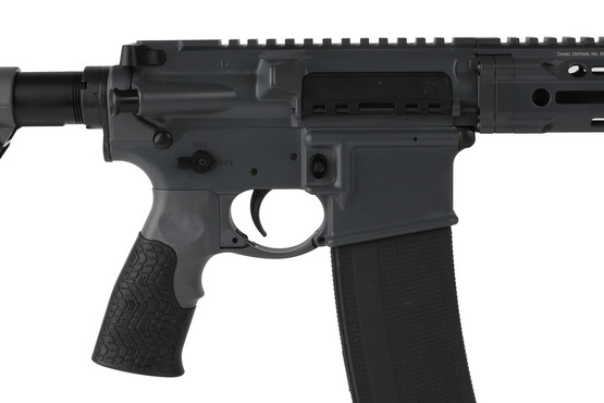 The DDM4v7 Daniel Defense carbine is assembled with a Mil-spec lower parts kit