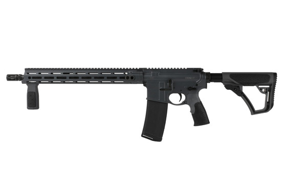 The Daniel Defense ddm4 v7 carbine comes with a rubber overmolded vertical grip