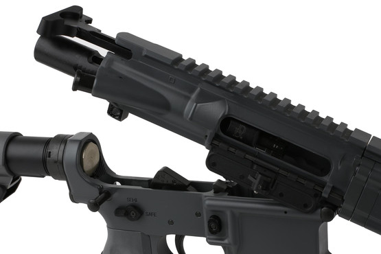 The Daniel Defense DDM4v7 rifle comes with an M16 bolt carrier group and milspec charging handle