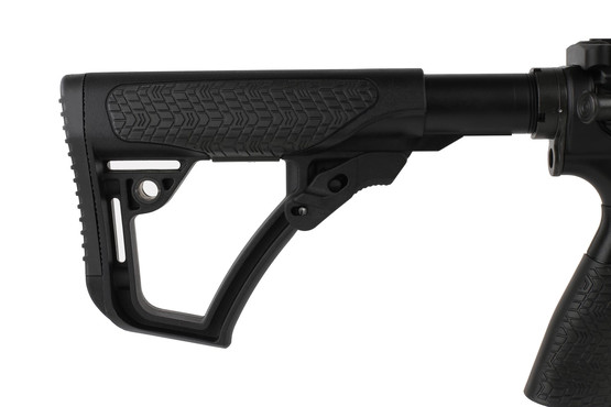 The MK12 Daniel Defense AR15 features a 6 position collapsible stock with rubber overmolded texture