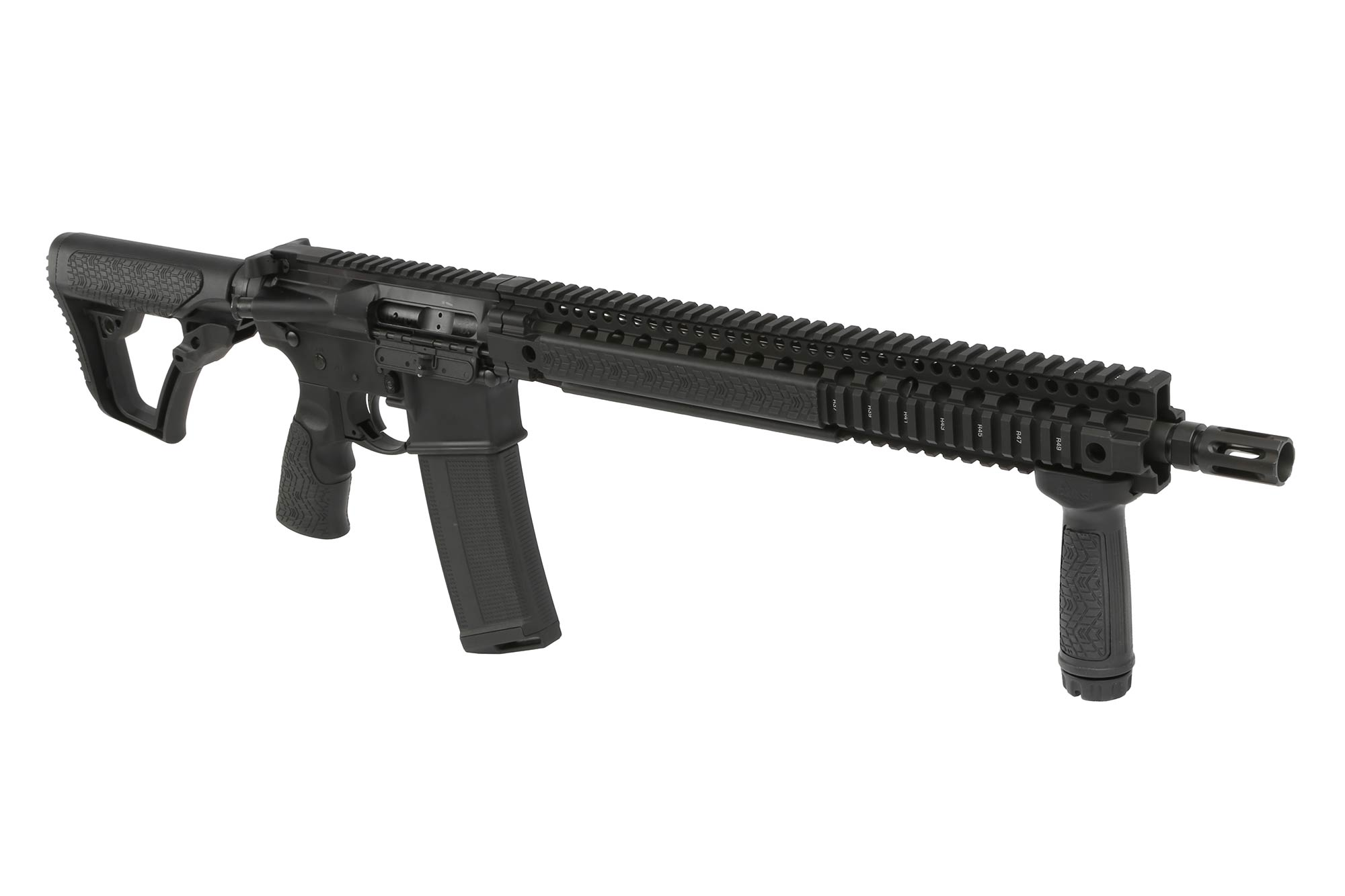"Daniel Defense 16 5.56 DDM4v9 Rifle with 15"" DDM4 Quad Rail - Black"