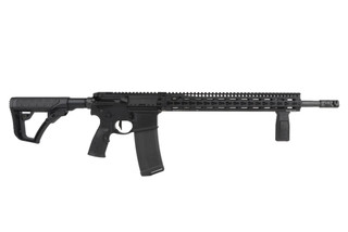 The Daniel Defense DDM4v11 Pro Rifle with 18 inch barrel and SLiM handguard is finished in black