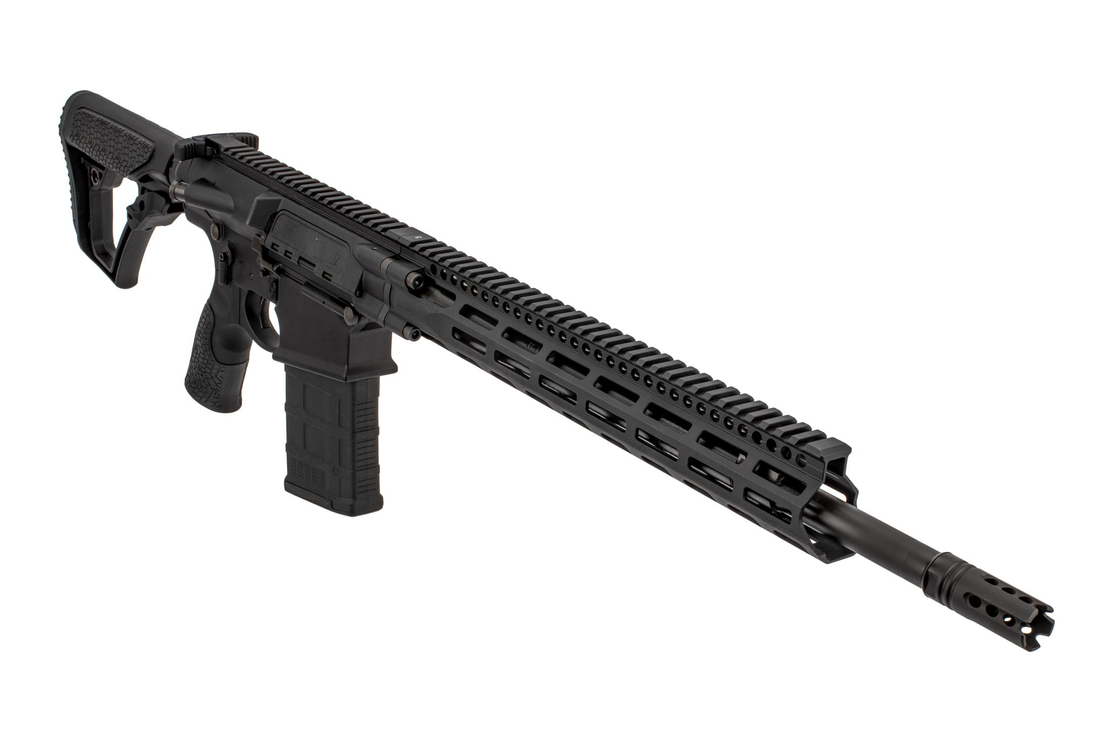 Daniel Defense DD5V4 6.5 Creedmoor rifle features an 18in cold hammer forged barrel and 15in M-LOK rail