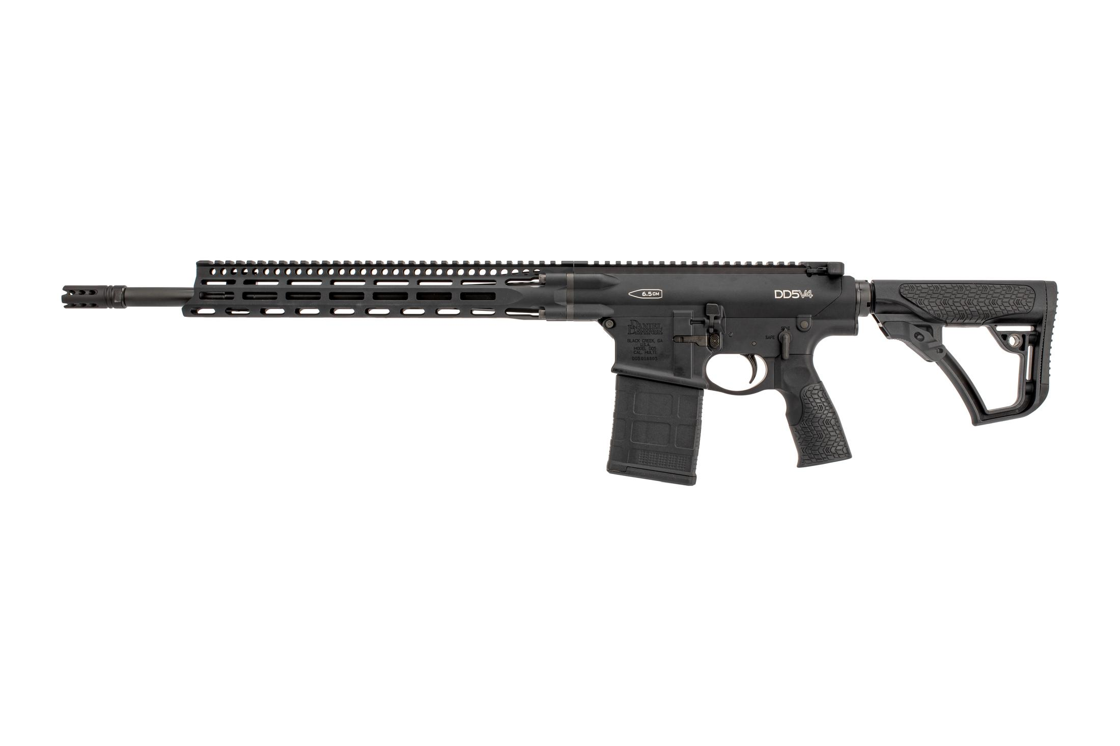 Daniel Defense DD5V4 6.5 CM complete rifle with M-lok rail features ambidextrous controls and flash suppressor.
