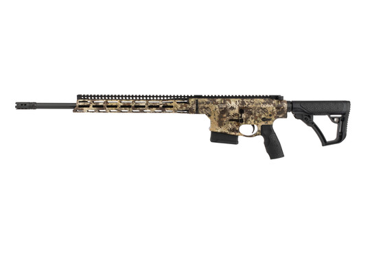 Daniel Defense DD5 V5 Hunter 6.5 Creedmor Rifle frame has a Kryptek camo design