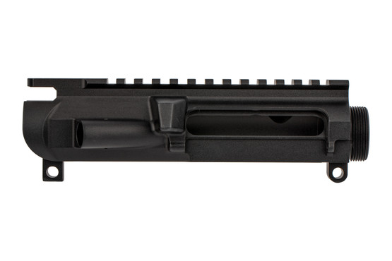 The Noveske Rifleworks Gen III AR15 stripped upper receiver features a hardcoat anodized finish
