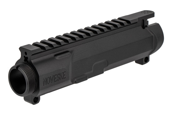 The Noveske Rifleworks N4 Gen 3 AR-15 Stripped upper receiver features M4 feed ramps