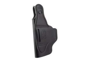 DeSantis Dual Carry II Holster for Glock 19/19X Sig 225/228 features black leather construction