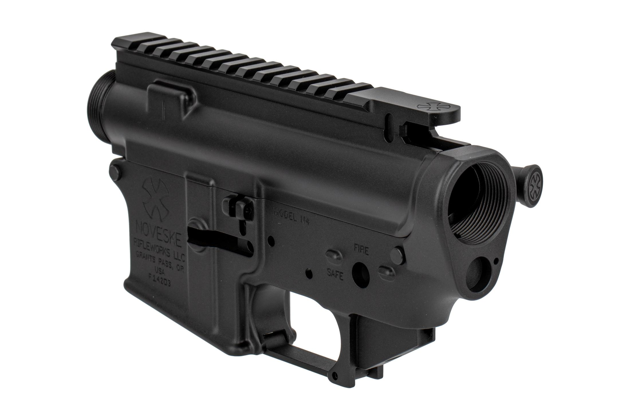 The Noveske N4 Gen I AR-15 lower and upper receiver set comes with a Mil-Spec trigger