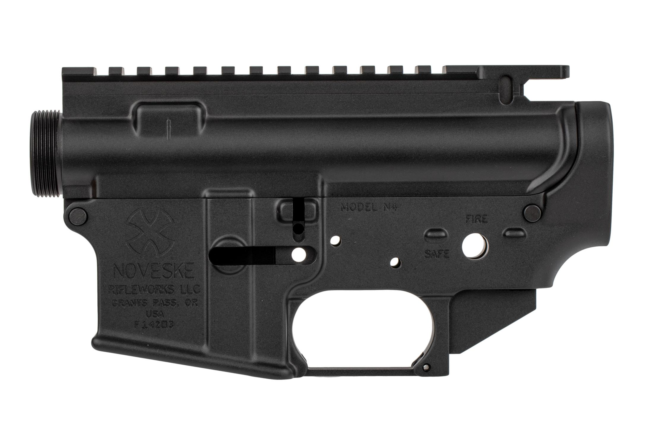 The Noveske N4 AR15 matched receiver set is compatible with MilSpec parts