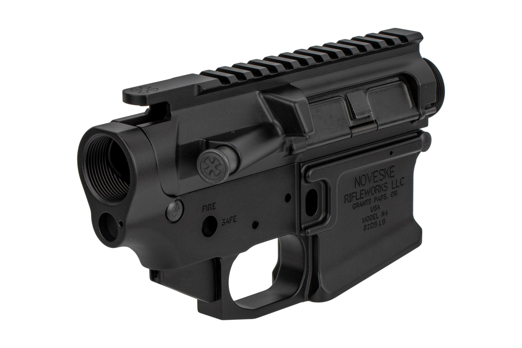 The Noveske Firearms N4 AR15 receiver set is compatible with MilSpec components