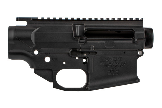 The Noveske N6 Gen III AR10 receiver set features an ambidextrous bolt release