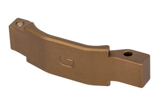 The Geissele Automatics Super Duty AR15 Trigger Guard features a desert dirt anodized finish
