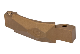 The Geissele Automatics Desert Dirt Ultra Precision 5 Axis AR15 Trigger guard is machined from aluminum