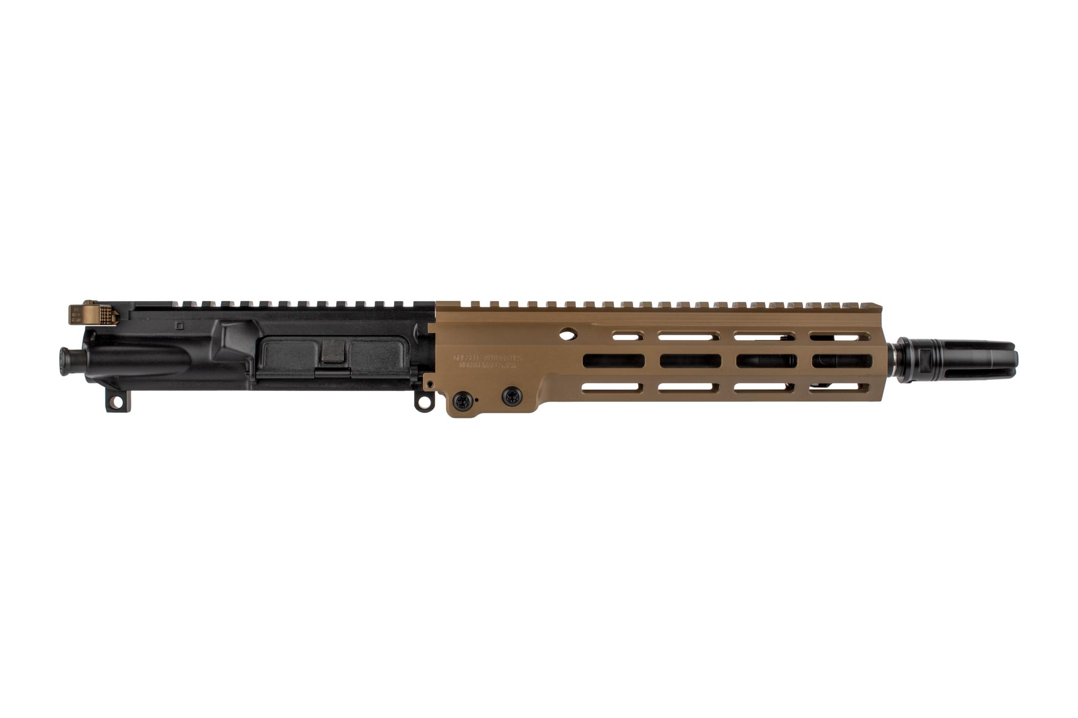 The Geissele URGI near clone complete upper receiver group features the MK16 super modular M-LOK handguard