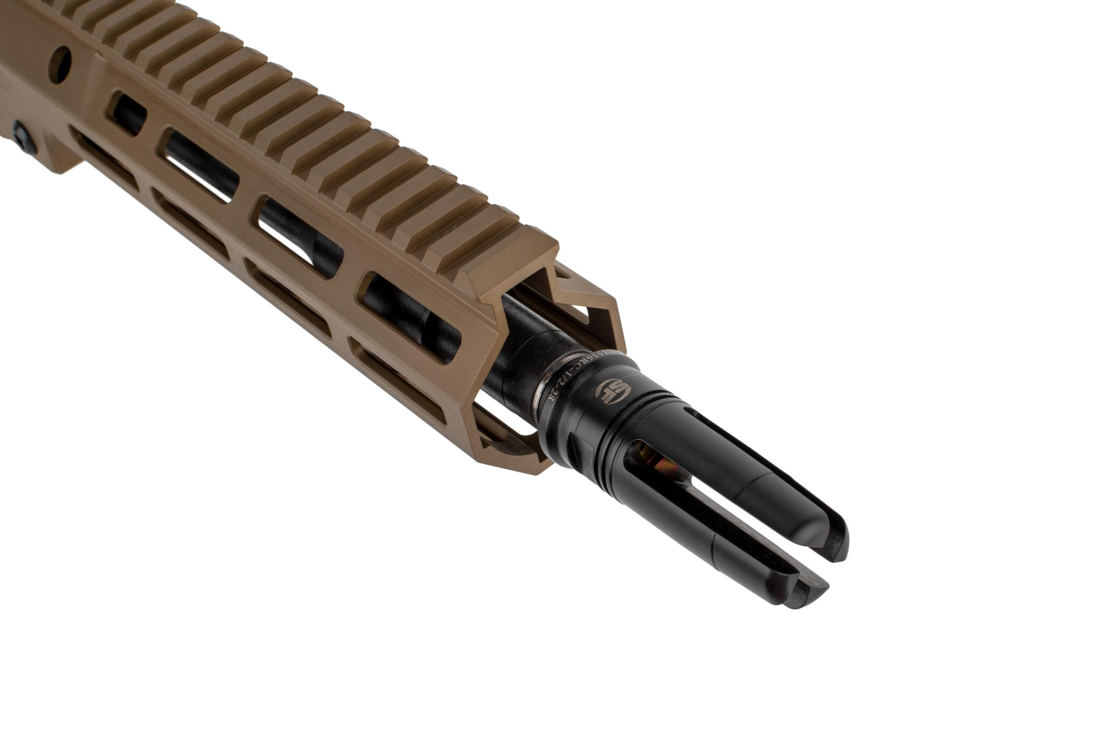 The Geissele Automatics USASOC URGI near clone AR15 complete upper receiver group comes with the SF4P flash hider