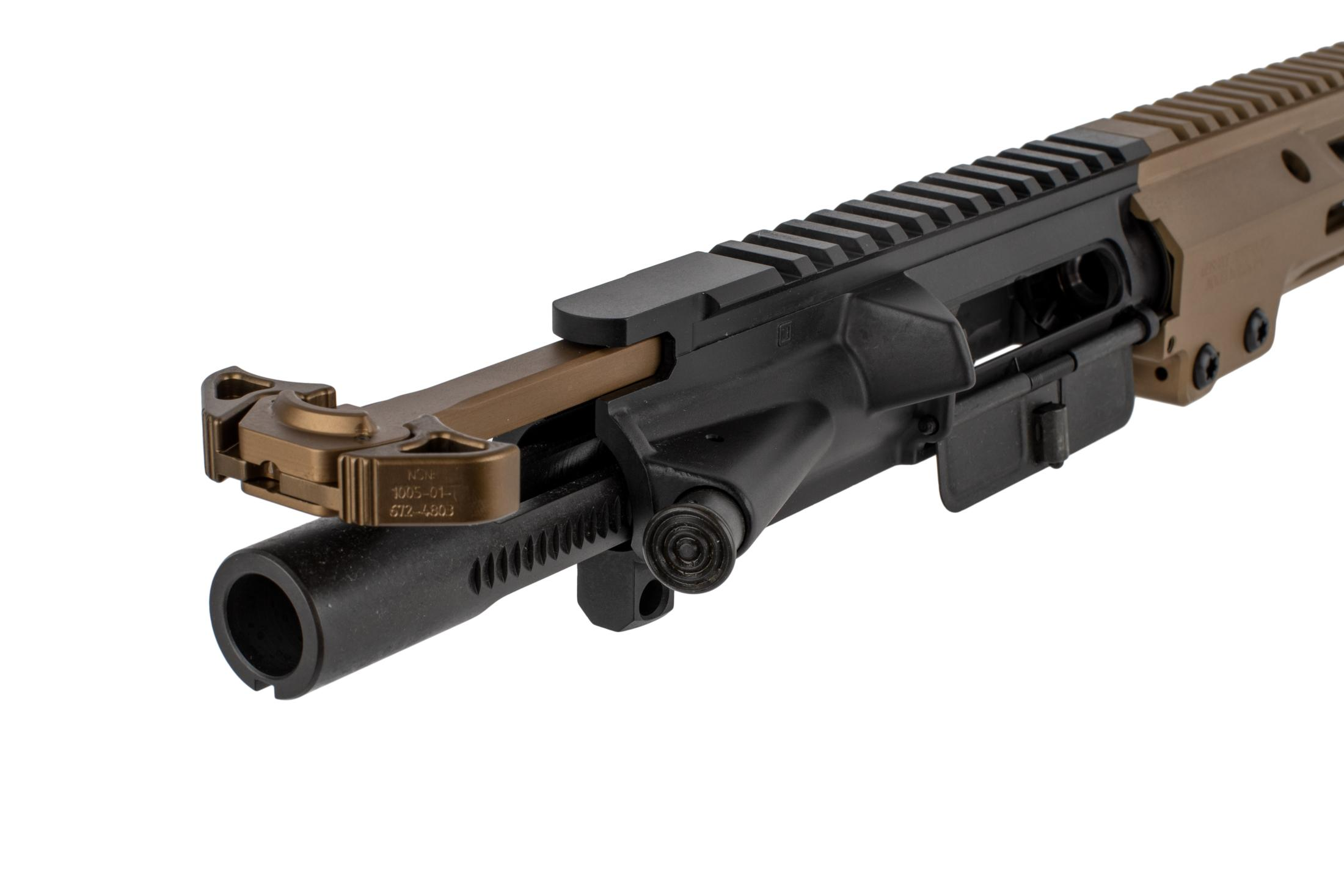 The Geissele Automatics near clone URGI complete upper receiver group comes with an Airborne charging handle and Mil-Spec BCG