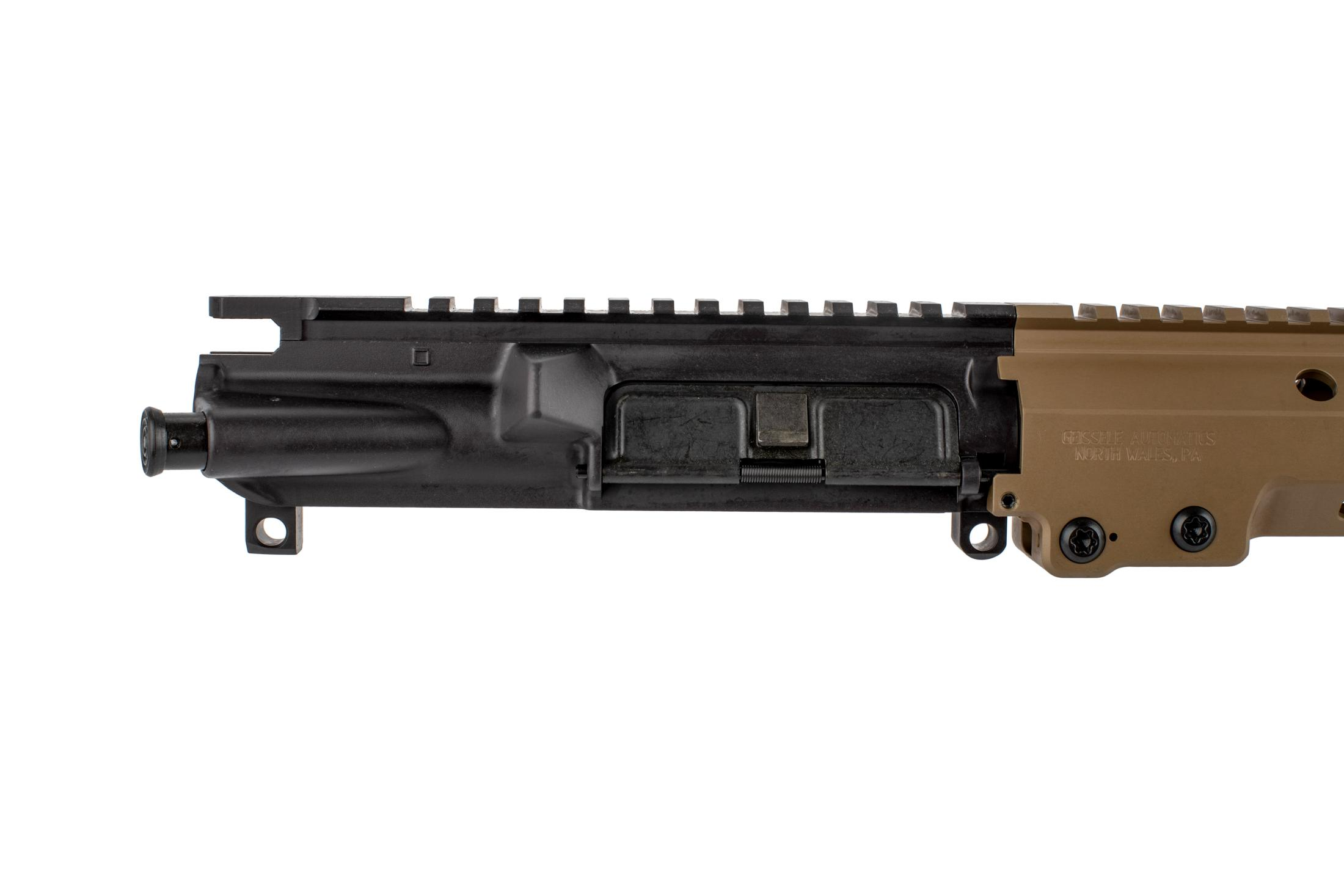 The Geissele URGI near clone barreled AR15 features an M4 flat top upper receiver