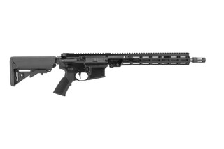 "Geissele Automatics super duty rifle with pinned 14.5"" barrel, flat trigger, and black finish"