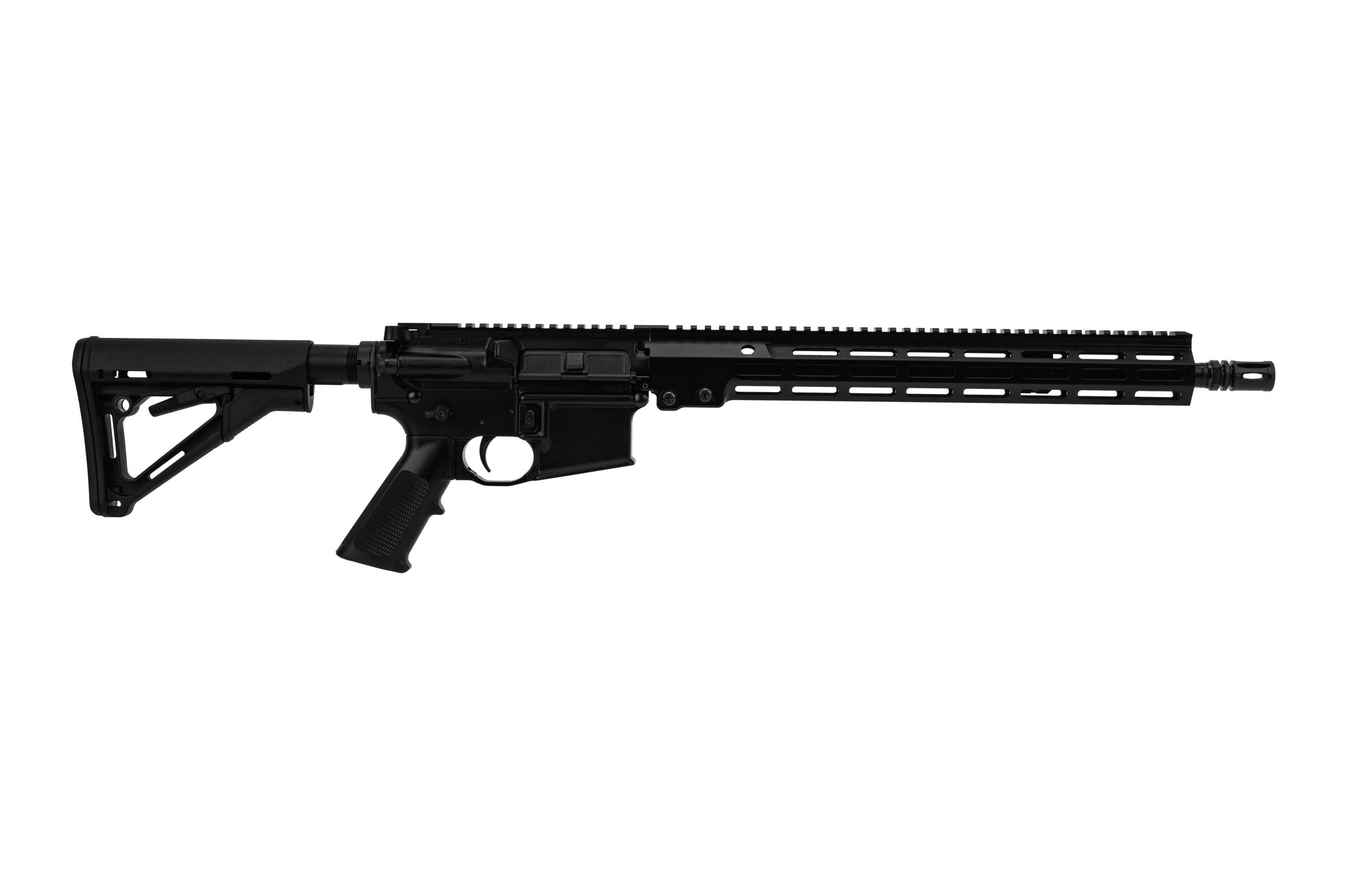 Geissele Super Duty Rifle is chambered in 5.56 and features a 16 inch barrel