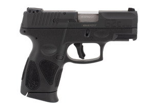 Taurus G2c 40 S&W compact pistol features a black slide and frame