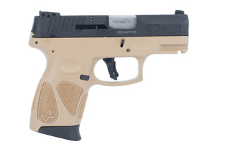 Taurus G2C 9mm Compact Pistol features a flat dark earth polymer frame